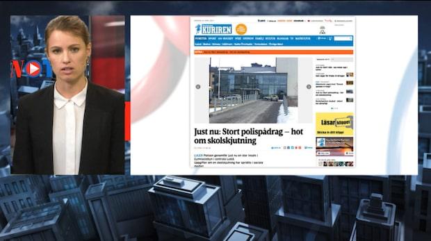 Hot om skolskjutning – skola i Luleå töms