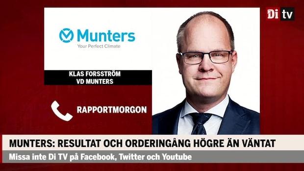 Munters vd: Starkt kvartal med god orderingång