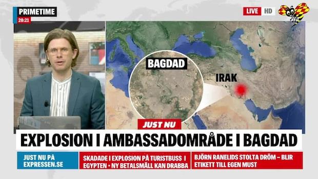 Explosion ambassadområde i Bagdad