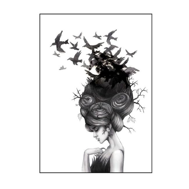 Motivet Ravensgirl av Katarina Vintrafors.