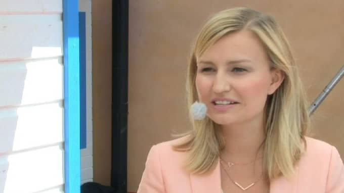 Ebba Busch Thor (KD), partiledare.