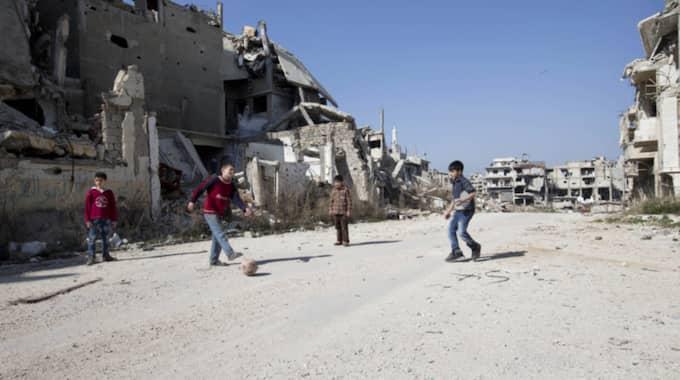 Flera personer omkom i explosionen. Bilden är från ett annat tillfälle. Foto: Hassan Ammar/AP/TT