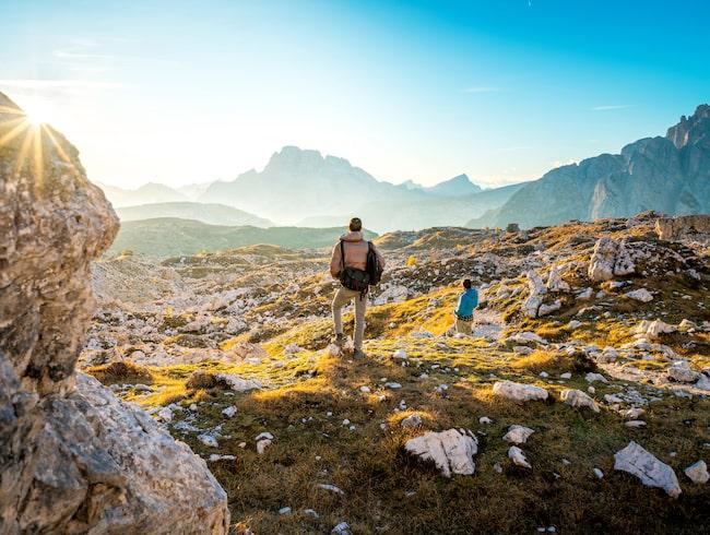 Fantastiska vandringar i ett vackert stenigt italienskt landskap.