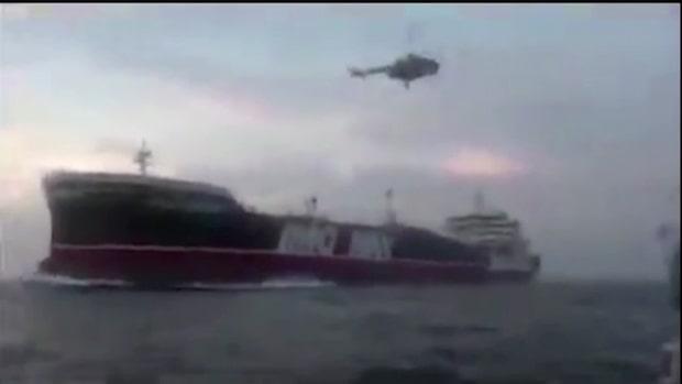 """Inspelning släppt från Iranska fartyget: """"Om ni lyder är ni säkra"""""""