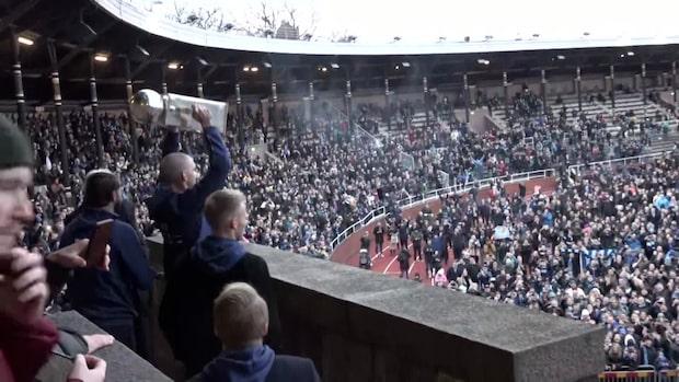Här hyllas Djurgården av fansen på Stadion