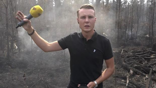 """Bilderna inifrån storbranden: """"Vattenbombar just nu"""""""
