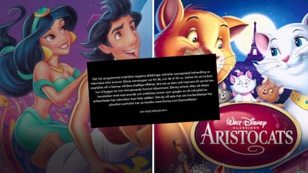Disneys nya varning på        de klassiska filmerna