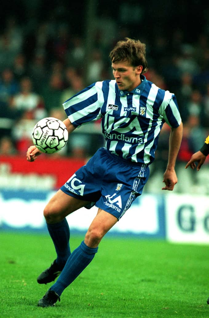 Magnus Erlingmark i Blåvitt-tröjan 1994. Foto: BILDBYRÅN