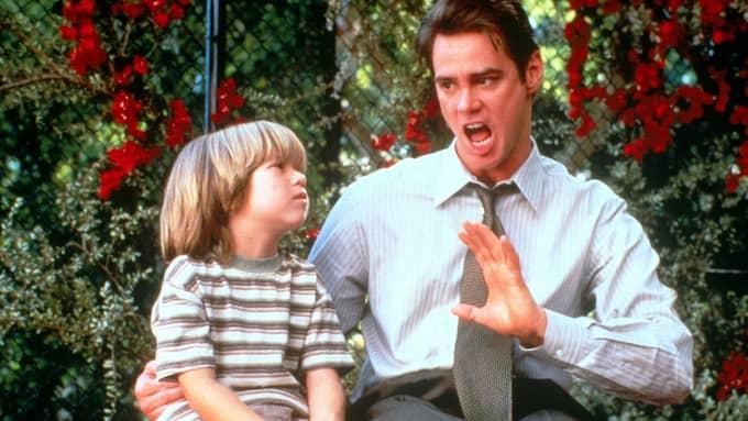 """Att skarva är mänskligt. Total ärlighet skapar kaos, vilket illustreras i filmen """"Liar, liar"""" när Jim Carrey blir tvångsmässig sanningssägare. Foto: / VIASAT"""