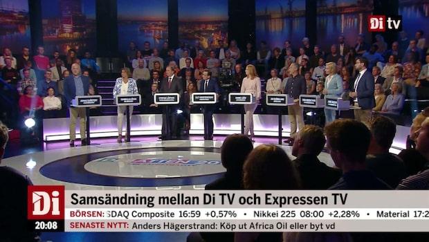 DEBATTEN 2018: Se hela Expressen TV och Di TV:s partiledardebatt