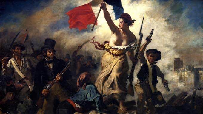 """Eugène Delacroix: """"La liberté guidant le peuple"""", 1830."""