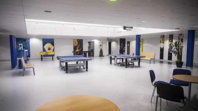 Skolans uppehållsrum. Foto: Christian Örnberg