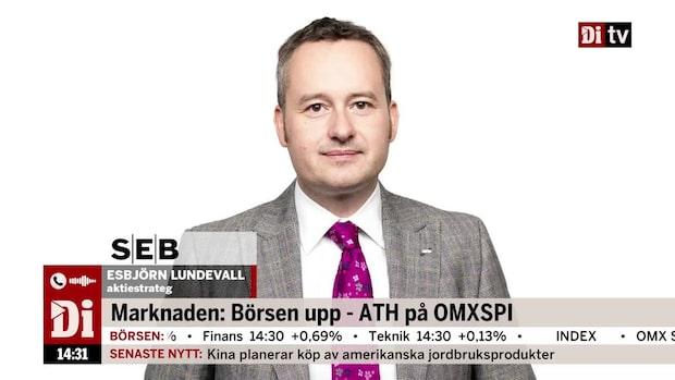 """Ökat hopp på börsen – Esbjörn Lundevall: """"Tydlig nedgång av oro"""""""