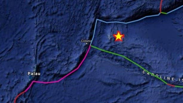 Jordbävningen inträffade i Mikronesien. Foto: Earthquake report
