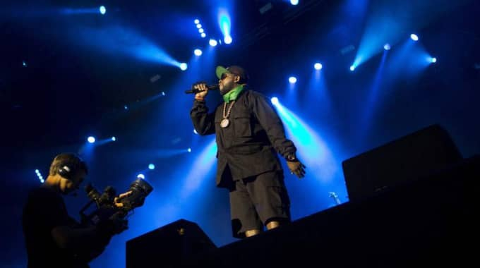 Outkast får en geting för sin insats på way out west Foto: Henrik Jansson
