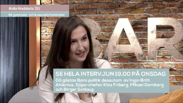 Ex-ministern Aida Hadzialic (S) i första tv-intervjun efter avgången
