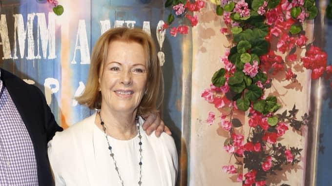 Anni-Frid Lyngstad på röda mattan. Foto: Johan Jepsson