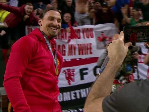 Zlatan kan inte sluta skratta – åt fräcka skämtet