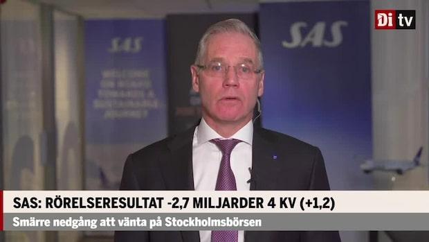 SAS vd Rickard Gustafson: Närmsta månaderna kommer fortsatt vara väldigt ansträngda
