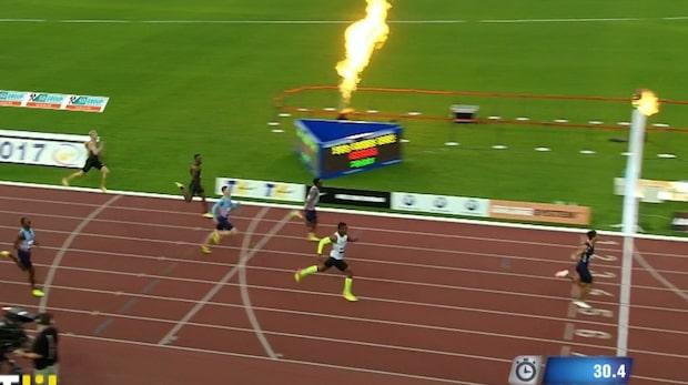 Krossen: Van Niekerk slog nytt världsrekord på 300 meter