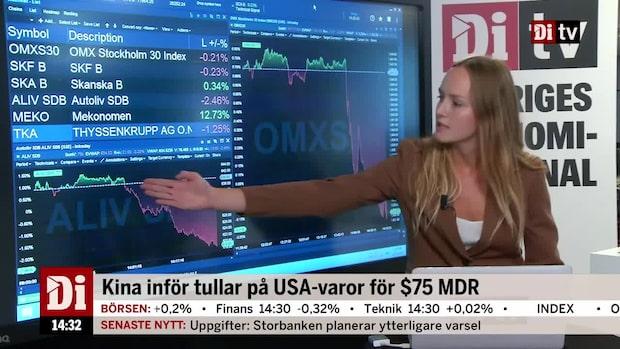 Marknadskoll 14.30: Börsen faller tungt på tullbesked