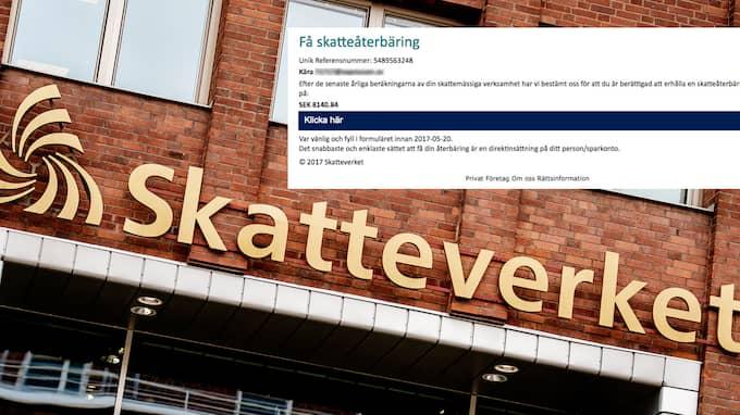 """""""Vi ger aldrig skatteåterbäring via e-post"""", säger Ylva Vesterlund på Skatteverket och varnar för att öppna bluffmejlen."""