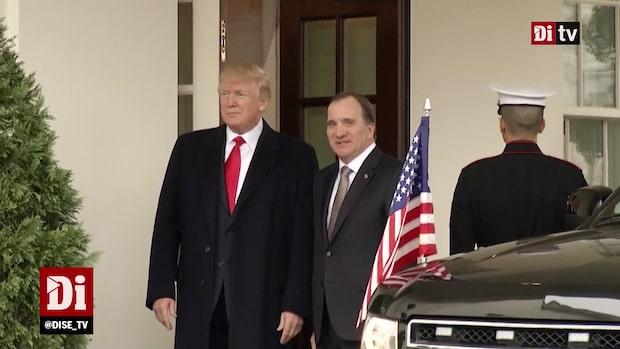 Donald Trump pratade om telekomjätten Ericsson med Löfven i somras