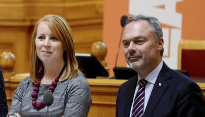 Annie Lööf (C) och Jan Björklund (L). Foto: Henrik Montgomery/TT