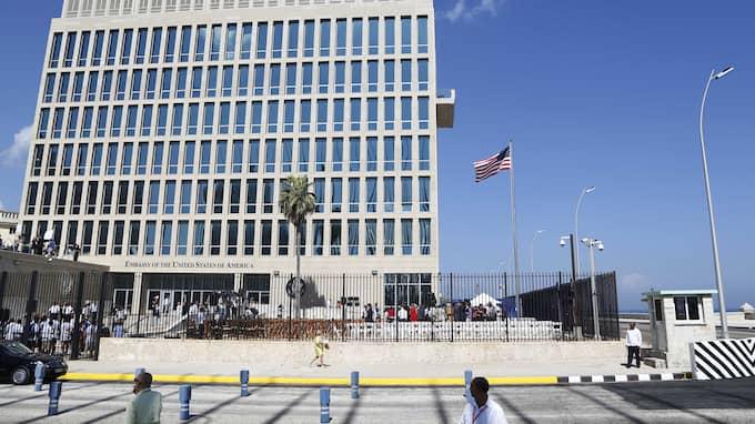 Den amerikanska ambassaden i Havanna. Foto: DESMOND BOYLAN / AP TT NYHETSBYRÅN