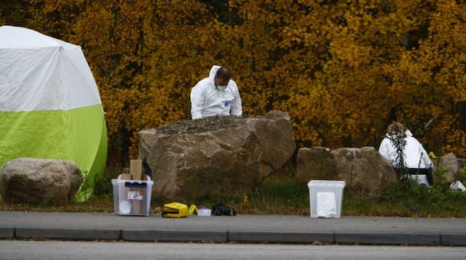 Här, på ett industriområde i Borås, hittades Wesams livlösa kropp. Foto: Henrik Jansson