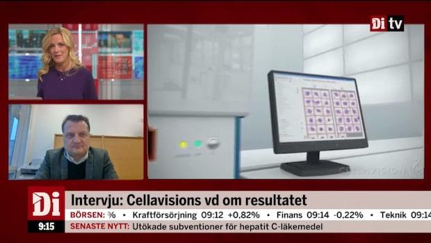Cellavisions vd om resultatet