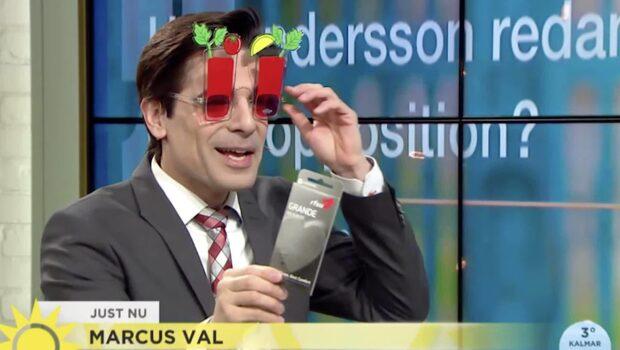 Marcus Oscarsson valde att göra exklusiv premiär för SD:s vallåt