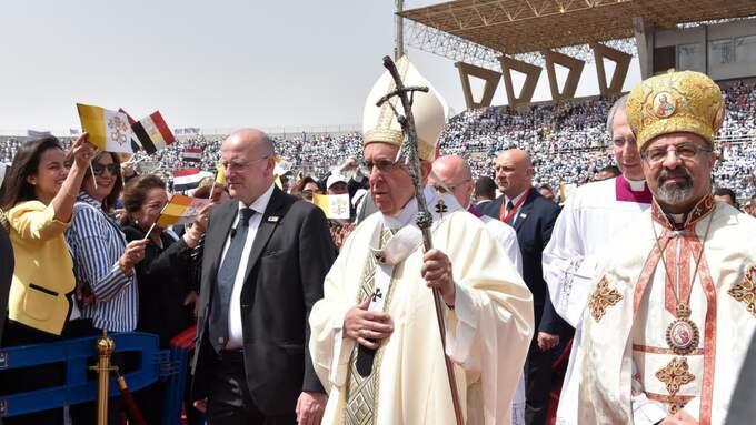 Påven besökte nyligen Egypten. Foto: AP