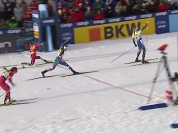 Se när Linn Svahn stod för superskräll – tog hem sprinten