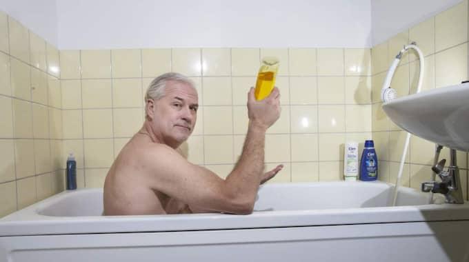 Det är inte första gången Glenn Hysén njuter i badet. Foto: Anders Ylander