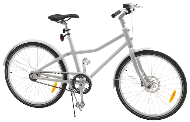 "Cykeln har tilldelats designpriset ""Red Dot Design Award""."