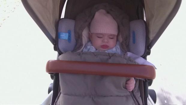 Kudden reducerar avgaser – runt barnet i vagnen