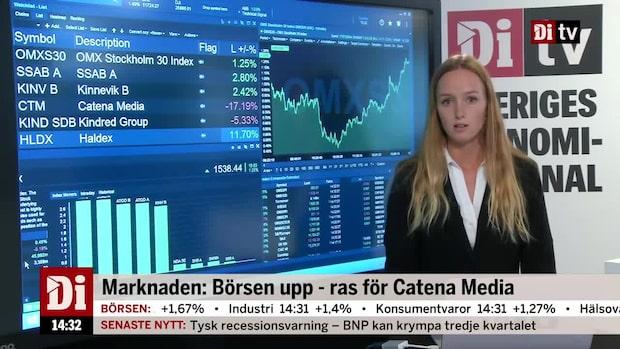 Marknadskoll 14:30: Börsen upp - ras för Catena Media