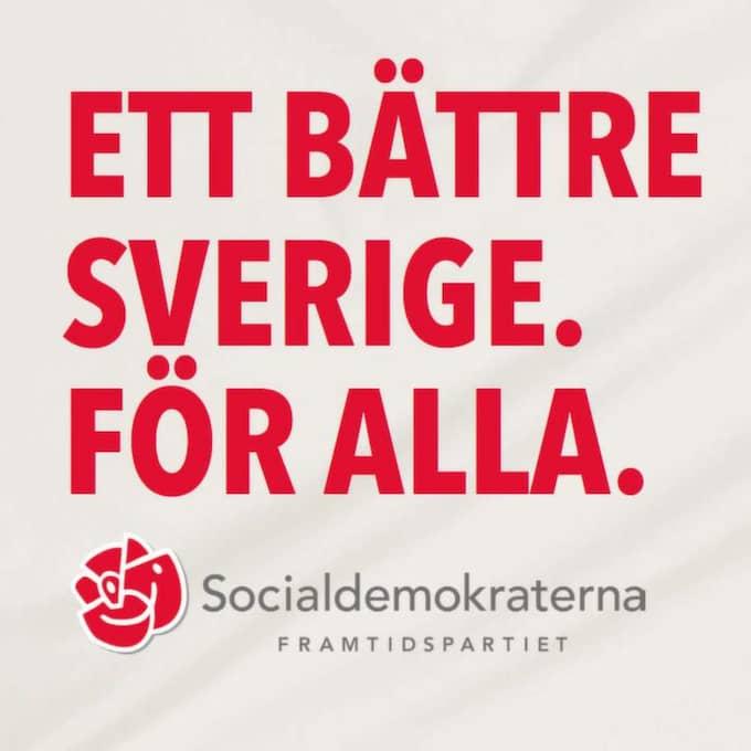 Socialdemokraternas partisekreterare Carin Jämtin och partiledare Stefan Löfven tror på partiets nya slogan.