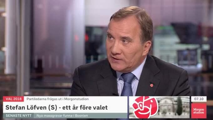 Stefan Löfven gästade SVT:s Morgonstudio Foto: SVT