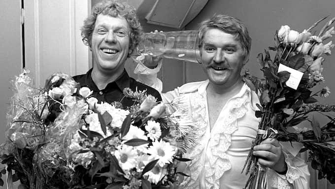 Hasse Alfredson och Tage Danielsson. Foto: RT / IBL BILDBYRÅ / IBL BILDBYRÅ 514 / IBL / IBLAB