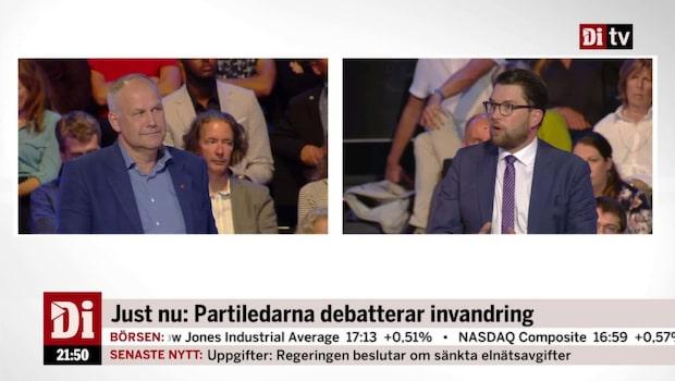 """Sjöstedt (V): """"Det är en ynkedomens politik"""""""