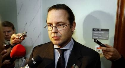 Enligt finansminister Anders Borg innebär regeringens budget en av de största satsningarna någonsin. Foto: Sven Lindwall