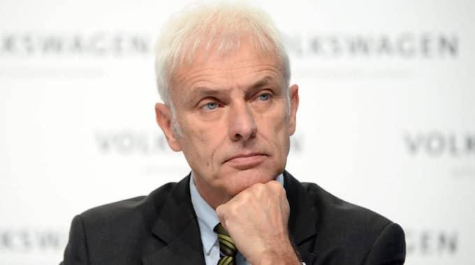 Volkswagens vd Matthias Mueller. Foto: Julian Stratenschulte/EPA/TT