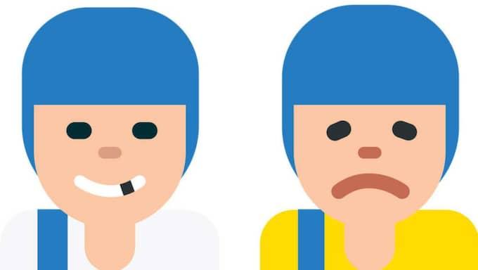 """Här är den nya emojin som ska förmedla känslan """"glädje""""."""