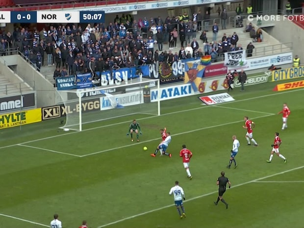 Kalmar svarar på straff efter Larssons ledningsmål