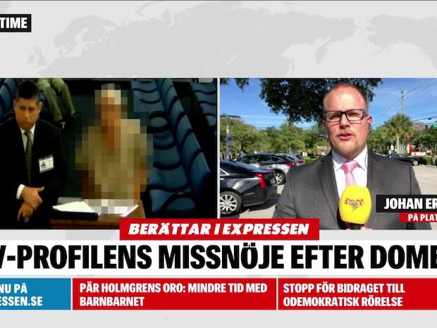 Tv-profilens missnöje efter domen
