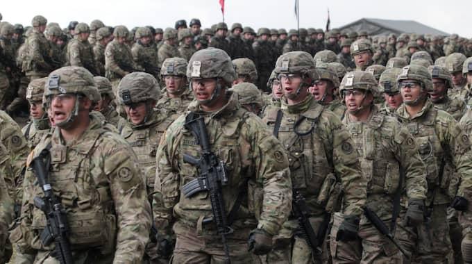 Tusen amerikanska militärer deltar i övningen Aurora. Bilden är tagen vid ett annat tillfälle. Foto: Tomasz Waszczuk / Epa / Tt / EPA TT NYHETSBYRÅN
