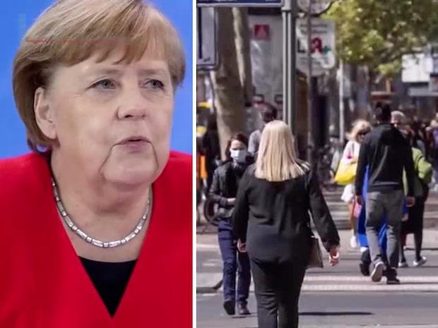 Angela Merkels varning när Tyskland öppnar igen