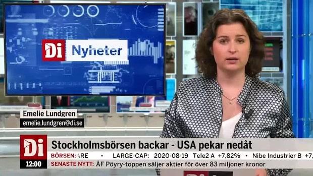 Di Nyheter 12.00: Nasdaq-börsen går mot fortsatt ras enligt terminshandeln